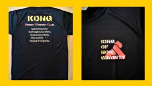 KONGストリートワークアウトオリジナルTシャツ